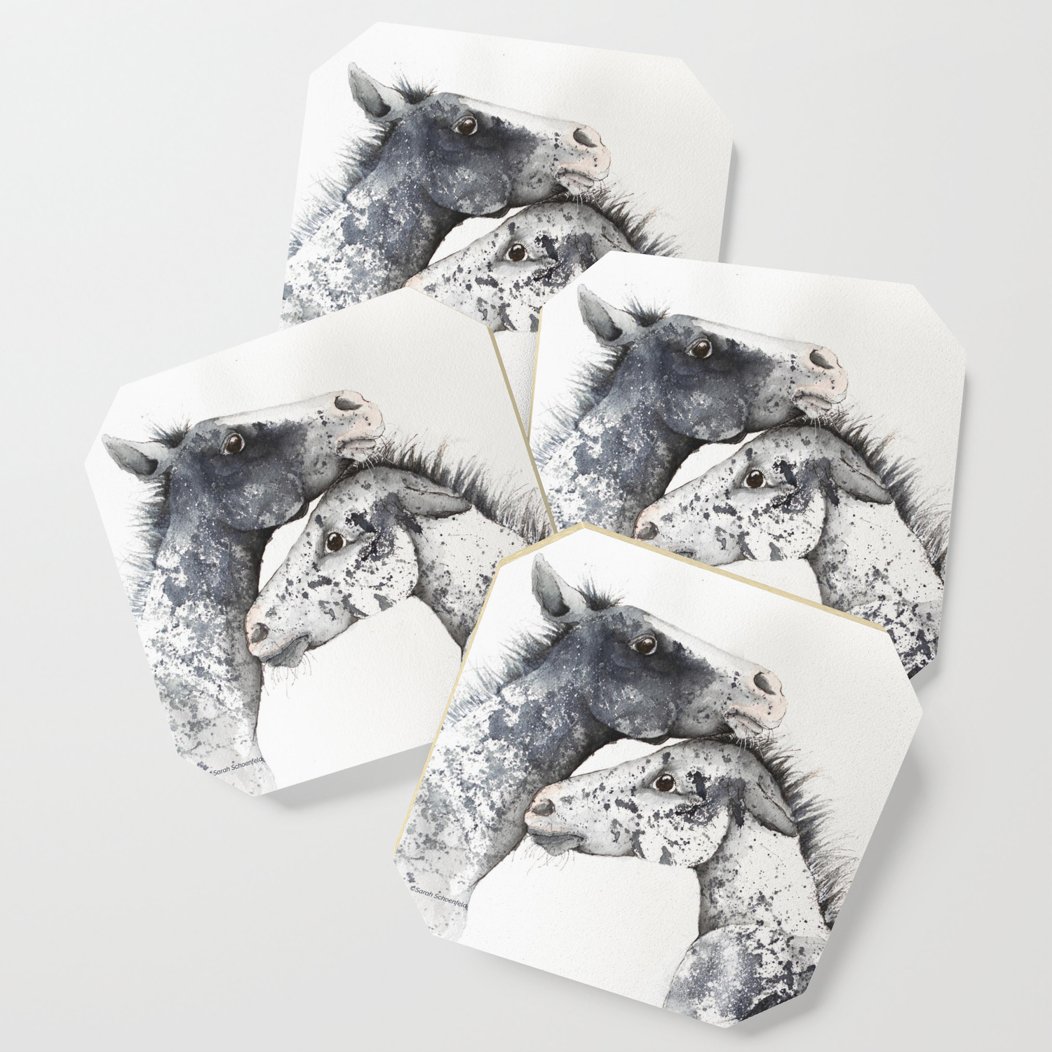Appaloosa Horse Foals Coaster By Docpixel Design Society6