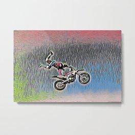 Motocross Sticky Paper Not Dry Style Motorbike Recing Metal Print