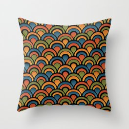 Pop Fan Pattern Throw Pillow