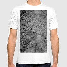 Tree of black T-shirt