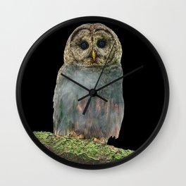 Owl Double Exposure Wall Clock