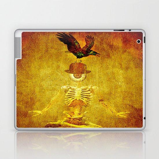 Monsieur Bone and Archibald the crow Laptop & iPad Skin