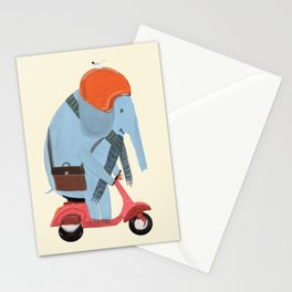 the elephant mobile Stationery Cards