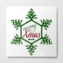 Xmas TreeFlake Metal Print