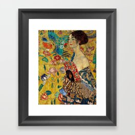 Gustav Klimt Lady With Fan Framed Art Print