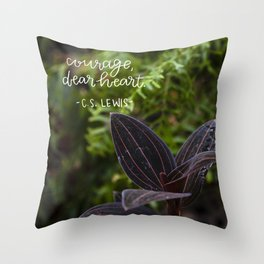 Courage, Dear Heart  |  Botanical Photography Throw Pillow