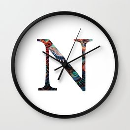 """Initial letter """"N"""" Wall Clock"""