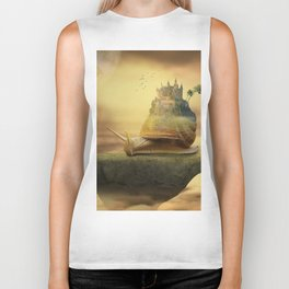 The Snail With The Castle Back Pulls The World Biker Tank