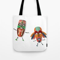 africa Tote Bags featuring AFRICA by Rceeh