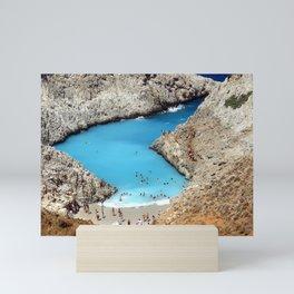 Seitan Limania Beach Beach Wild Beach Sea Landscape Mini Art Print