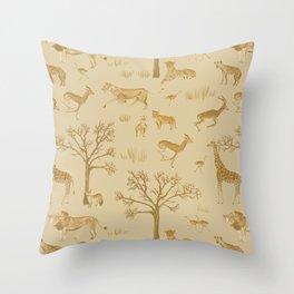 Safari in the Serengeti Throw Pillow
