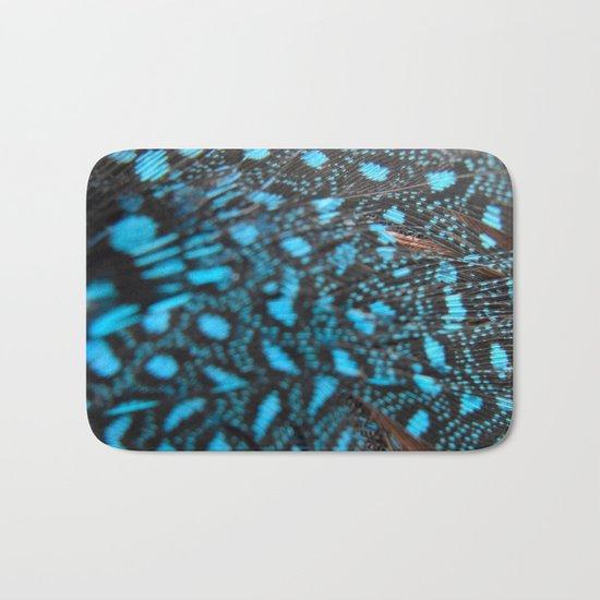 Blue Feather Bath Mat