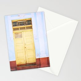 82. Yellow Door and Blue Wall, Cuba Stationery Cards