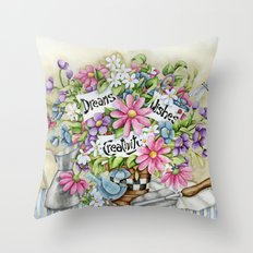 Dreams Wishes And Creativity Throw Pillow