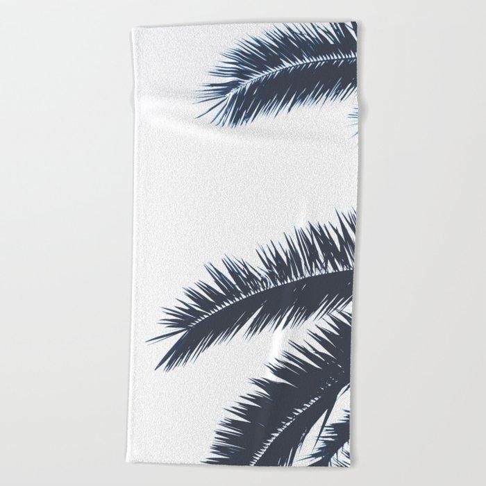 Palm Tree leaves abstract III Beach Towel