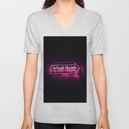 Wash Room - Neon Sign Unisex V-Neck
