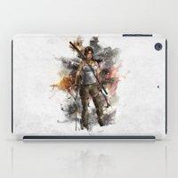 tomb raider iPad Cases featuring Tomb Raider Reborn... by 187designz