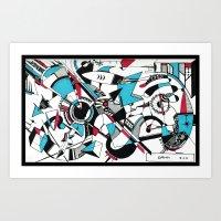 kandinsky Art Prints featuring KANDINSKY TRIBUTE by DavidePerroneDAHM