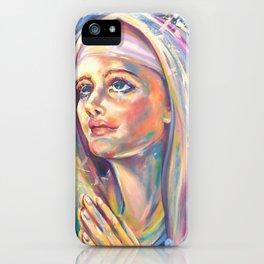 Saint Claire of Assisi, potrait iPhone Case