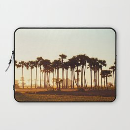 Palm Trees Bathing at Sunrise Laptop Sleeve