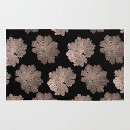 Autumn Leaves Pattern #7 #RoseGold #Black #foliage #decor #art #society6 Rug