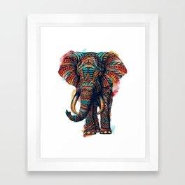 Ornate Elephant (Watercolor) Framed Art Print