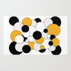 Bubbles - orange, black, gray and white Rug