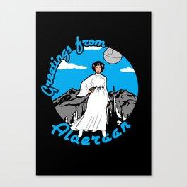 Greetings from Alderaan Canvas Print