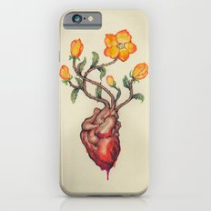 THIS BLEEDING BLOSSOMING HEART: ORANGE WILD ROSE Slim Case iPhone 6s