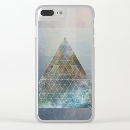 Perseid - Contemporary Geometric Pyramid Clear iPhone Case