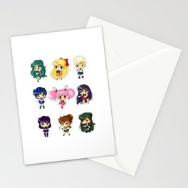 Sailor Scouts Stationery Cards