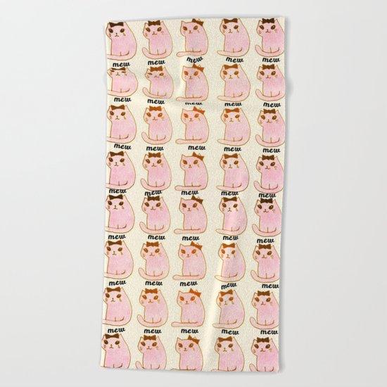 cats-170 Beach Towel