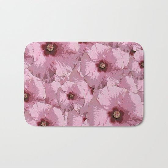 Pink Hibiscus World Bath Mat
