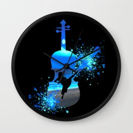 Let The Music Play - Blues Wall Clock