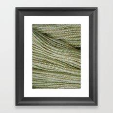 Yellow, light green handspun yarn Framed Art Print
