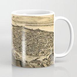 Aerial View of Catskill, New York (1889) Coffee Mug