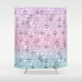 Mermaid Princess Glitter Scales #1 #shiny #pastel #decor #art #society6 Shower Curtain