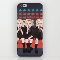 ahs iPhone & iPod Skins featuring AHS Hotel by minniemorrisart