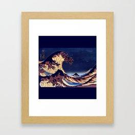 The Great Wave Off Kanagawa Inverted Katsushika Hokusai Framed Art Print