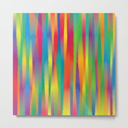 Paint Yourself In Stripe Metal Print