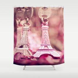 eiffel charm Shower Curtain