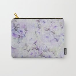 Vintage lavender gray botanical roses floral Carry-All Pouch
