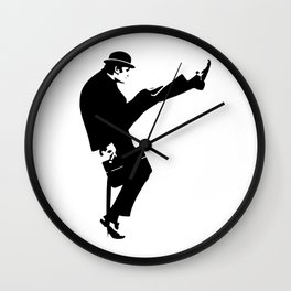 The Ministry of Silly Walks Artwork for Wall Art, Prints, Posters, Tshirts, Men, Women, Kids Wall Clock