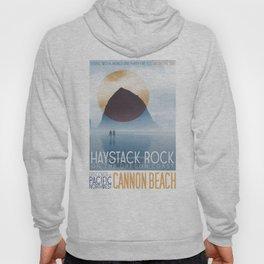 Haystack Rock of Cannon Beach, Oregon Hoody