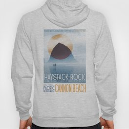 Haystack Rock of Cannon Beach, Oregon Hoody