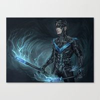 nightwing Canvas Prints featuring Nightwing by Veradia