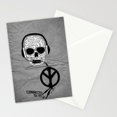 Love' skull -  a collaboration between Sam Guilhen and Gwenola de Muralt - Stationery Cards