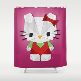 Catgami Shower Curtain