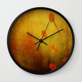 Floral Abstract Wall Clock