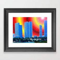 Hot Times Miami Framed Art Print